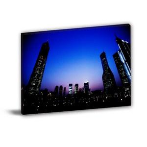 24mama無框畫-單聯式 夜景 建築無框畫 60x40cm