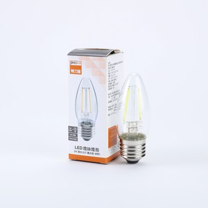 PRO特選蠟燭型LED燈絲燈泡2W清光E27晝光色