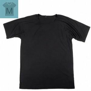 冰礦咖啡紗涼感短袖內著(男)M 黑色