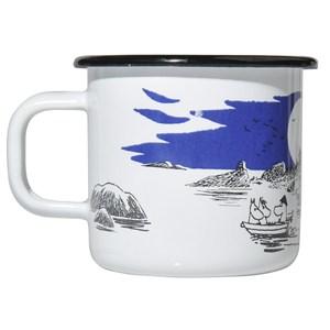 【芬蘭Muurla】嚕嚕米系列-島嶼琺瑯馬克杯370cc-白色