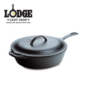 Lodge 長柄深煎鑄鐵鍋含蓋 5Q/4.75公升