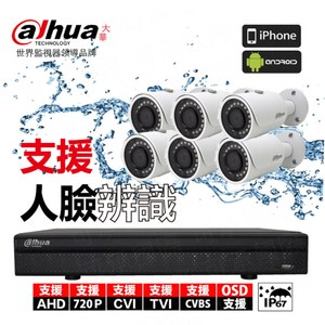【Dahua】套餐 8路主機 6鏡頭 贈1A變壓器