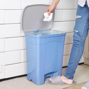 吉利潔腳踏式垃圾桶25L-粉藍