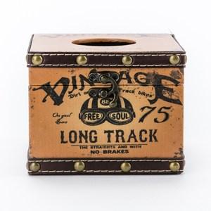 莫爾復古方形面纸盒 棕