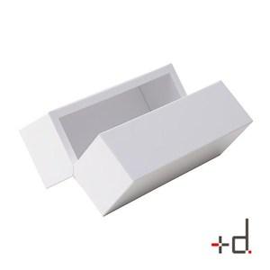 日本+D 可開關迷你面紙盒(白)