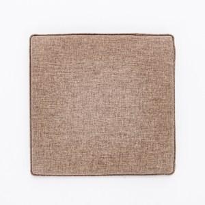 HOLA 新素色記憶棉坐墊40x40x4cm 棕色