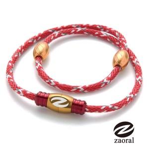 Zaoral 甦活磁石項圈-紅/金RD/GD (L號)