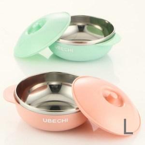 【佶之屋】馬卡龍純色304不鏽鋼有蓋餐杯碗(L)L-雙耳碗-粉