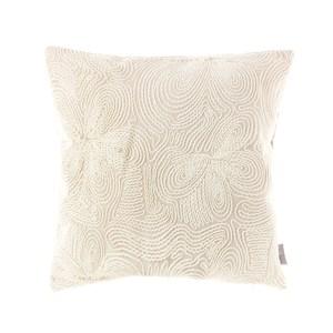 HOLA 凱特繡花抱枕45x45cm 百合米