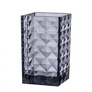 晶鑽菱格紋漱口杯 灰色