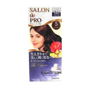 日本dariya沙龍級ONE PUSH白髮染髮乳(#5自然棕)*3