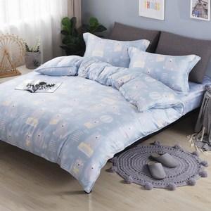 【夢工場】頑皮寶貝40支紗天絲兩用被床包組-加大