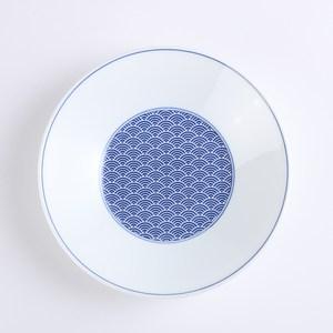 日本晨月圓盤22cm 青海波