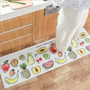 【三房兩廳】優質防水防滑皮革長地墊 45x150cm(水果家族)