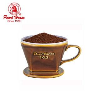 【日本寶馬】陶瓷三孔手沖咖啡濾杯(2~4人用)