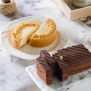 艾波索【巧克力黑金磚12cm+無限乳酪4吋-任1入】冠軍組合乳酪口味(原味)