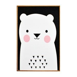 TROMSO北歐生活版畫有框畫-俏皮小熊