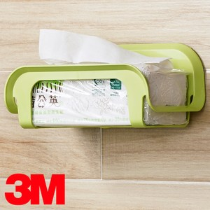 3M 無痕浴室收納系列 抽取衛生紙收納架 蘋果綠限量款