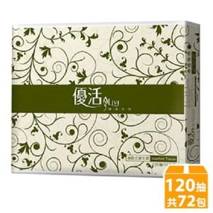 優活 Livi 抽取式衛生紙120抽x12包x6袋