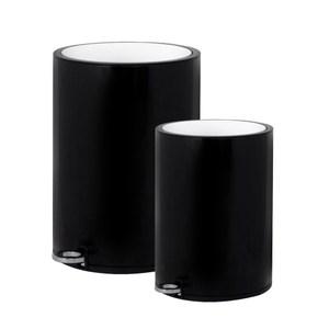 (組)Captain雙色緩降垃圾桶6L+12L黑