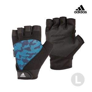 Adidas Training 防滑短指手套 迷彩藍 L