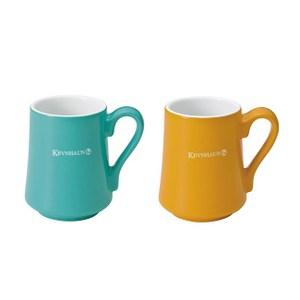 《KEVNHAUN》陶瓷馬克杯雙色2件組(黃x藍綠)