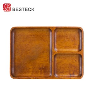 【BESTECK】洋槐木餐盤(方盤三格)