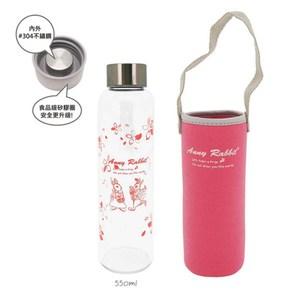 安妮兔 時尚玻璃瓶550ml-二代(2入) 015P-A09NT