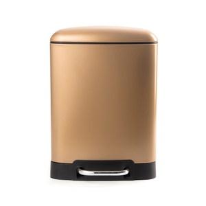 HOLA 格朗方形緩降踏式垃圾桶6L 棕金