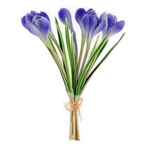 10吋藏紅花7入 (束)藍色