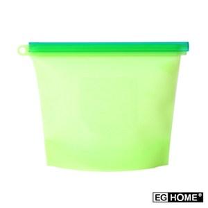 宜居家矽膠食物密封保鮮袋x8入(1000ml)綠色