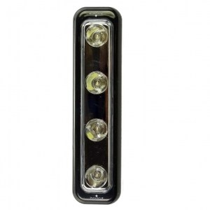 ELPA日本朝日雙頭按壓開關長型白光LED小夜燈_電池式