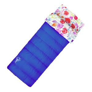 【OutdoorBase】草原印花保暖睡袋 混紡刷毛蓄熱纖維雙拼睡袋