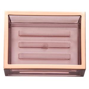 HOLA 現代方框肥皂盤 香檳金