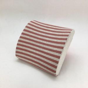 療癒系針織記憶釋壓腰靠墊-針織紅32x30cm