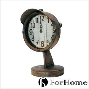 ForHome 工業風 經典美式 指示燈造型桌鐘 藝術 店內裝飾 復古家飾