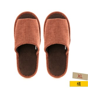 HOLA 舒適素色保暖拖鞋 橘XL