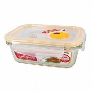 樂扣樂扣輕鬆熱耐熱玻璃保鮮盒 380ml 長方形
