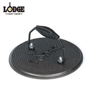 【美國Lodge】19公分鑄鐵圓型壓肉器/7.5吋