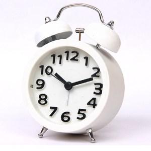 復古立體數字圓型鬧鐘(小) SV-1306-W