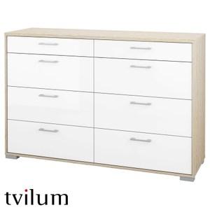 丹麥品牌 Tvilum 八抽斗櫃 採E1板材