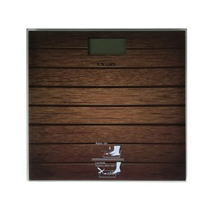 CAMRY 木紋玻璃體重計