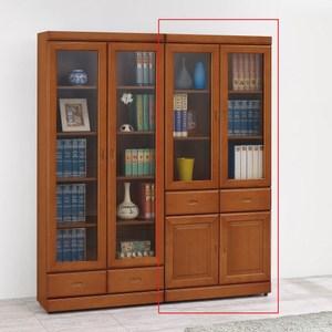 艾德里樟木色中抽書櫥
