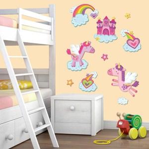 雙層五彩蔥手工壁飾貼 彩虹飛馬