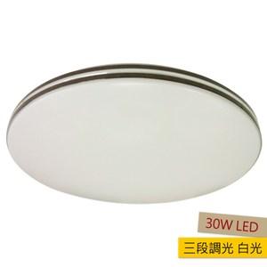 萊克30W三段調光LED吸頂燈 白光