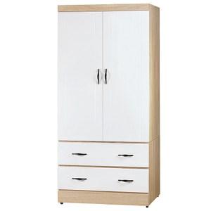 【YFS】爾德3x6衣櫃-82x57x180cm(兩色可選)白色