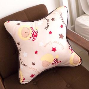 【奶油獅】正版授權 台灣製造-搖滾星星可拆洗方型抱枕(米色)