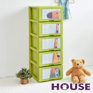 長頸鹿五層收納櫃(單層26L)-DIY-綠