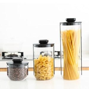 PUSH!廚房用品不鏽鋼玻璃密封罐雜糧儲物罐(三件套)D172三件套