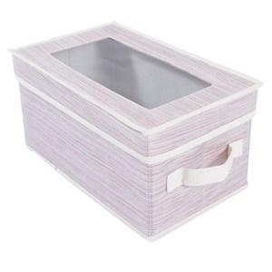 芙蘿視窗收納盒 S尺寸 粉色款 34x21x17cm